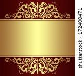 luxury background with golden... | Shutterstock .eps vector #172400471