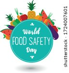 world food safety day... | Shutterstock .eps vector #1724007601