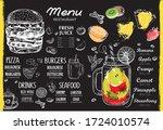 restaurant cafe menu  template... | Shutterstock .eps vector #1724010574