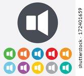 speaker volume sign icon. sound ... | Shutterstock .eps vector #172401659