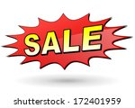 vector illustration of red sale ...