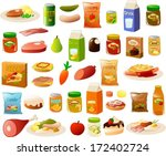 vector illustration set of... | Shutterstock .eps vector #172402724