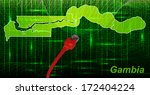 map of gambia with borders in... | Shutterstock . vector #172404224