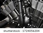 Motorcycle Engine Motor Close...