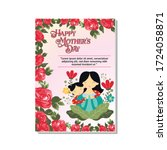 mother's day celebration poster ...   Shutterstock .eps vector #1724058871