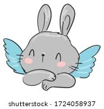 Cute Drawing Bunny With Wings....