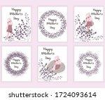 set of happy mother s day...   Shutterstock .eps vector #1724093614