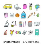 school objects and symbols... | Shutterstock .eps vector #1724096551