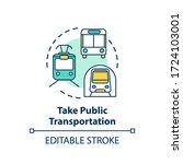 take public transportation... | Shutterstock .eps vector #1724103001