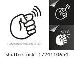 hand is knocking on door icon... | Shutterstock .eps vector #1724110654