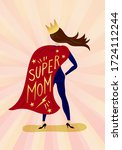 happy mother's day greeting... | Shutterstock .eps vector #1724112244