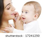 picture of happy mother with... | Shutterstock . vector #17241250