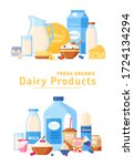 Dairy Products. Vector...
