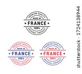 premium quality made in france... | Shutterstock .eps vector #1724138944