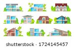 house building vector icons of...   Shutterstock .eps vector #1724145457