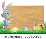 white easter rabbit bunny... | Shutterstock .eps vector #172414619