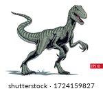 Velociraptor Dinosaur  Comic...
