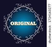 vector vintage page decoration  ... | Shutterstock .eps vector #1724163277