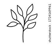 a hand drawn monochrome...   Shutterstock . vector #1724169961