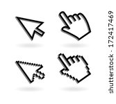 vector illustration hand cursor ... | Shutterstock .eps vector #172417469