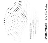 abstract dotted vector... | Shutterstock .eps vector #1724175667