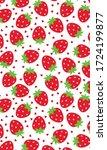 strawberry pattern  red heart...   Shutterstock .eps vector #1724199877