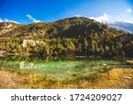 lake mricho tal with green... | Shutterstock . vector #1724209027