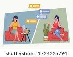 speech bubbles talking about... | Shutterstock .eps vector #1724225794
