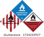 flammable solid warning sign ... | Shutterstock .eps vector #1724233927