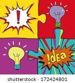 Idea Puzzles In Pop Art Style....
