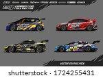 sport car wrap decal designs... | Shutterstock .eps vector #1724255431
