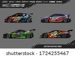 sport car wrap decal designs... | Shutterstock .eps vector #1724255467