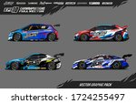 sport car wrap decal designs... | Shutterstock .eps vector #1724255497