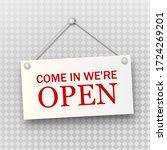 open sign board hanging on the... | Shutterstock .eps vector #1724269201