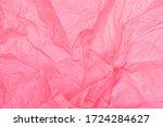 Bright Pink Crumpled Paper...