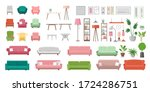 furniture vector illustration... | Shutterstock .eps vector #1724286751