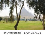 golf course in cairo and the... | Shutterstock . vector #1724287171
