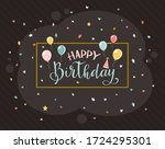lettering happy birthday on... | Shutterstock .eps vector #1724295301