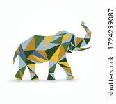 Elephant Geometric Concept...