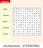 find the hidden word. word... | Shutterstock .eps vector #1724307841