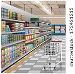 illustration of the supermarket   Shutterstock .eps vector #172431215