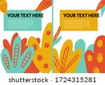 cyan  yellow and red hand drawn ... | Shutterstock .eps vector #1724315281