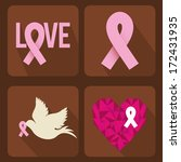 breast cancer over brown ... | Shutterstock .eps vector #172431935