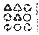 collection of recycle icon... | Shutterstock .eps vector #1724320054