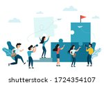 business concept of teamwork ...   Shutterstock .eps vector #1724354107