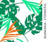 palm  banana leaves vector... | Shutterstock .eps vector #1724361511