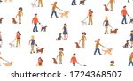vector seamless pattern with... | Shutterstock .eps vector #1724368507