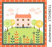 home nature flower tree house... | Shutterstock .eps vector #172438211