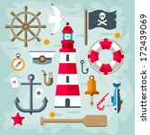anchor,background,bell,boat,compass,decorative,design,element,emblem,fish,flag,graphic,grunge,helm,icon