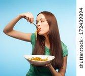 Girl Eats Pasta.